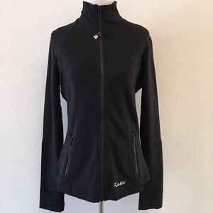 Lululemon Solid Black Defice Jacket Size 8 Logo